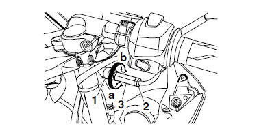 Yamaha YZF-R125 Service Manual: Adjusting the throttle