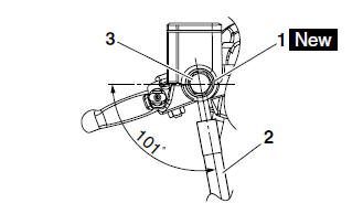 Yamaha YZF-R125 Service Manual: Installing the front brake