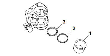 Yamaha YZF-R125 Service Manual: Disassembling the rear