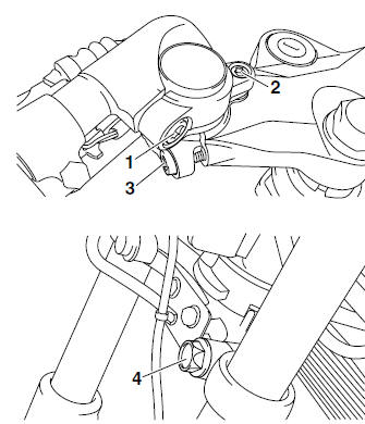 Yamaha YZF-R125 Service Manual: Removing the front fork