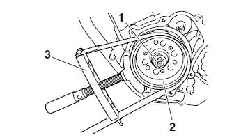 Yamaha YZF-R125 Service Manual: Removing the generator