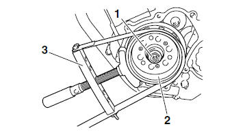 Yamaha YZF-R125 Service Manual: Installing the generator