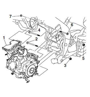 Yamaha YZF-R125 Service Manual: Installing the engine
