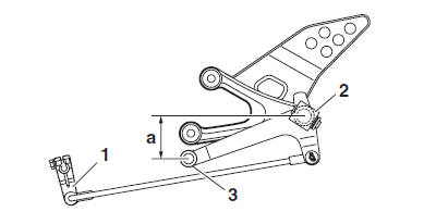 Yamaha YZF-R125 Service Manual: Installing the shift arm