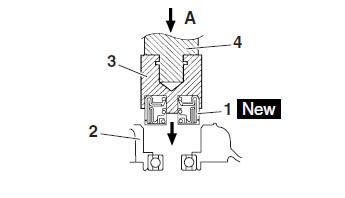 Yamaha YZF-R125 Service Manual: Assembling the water pump