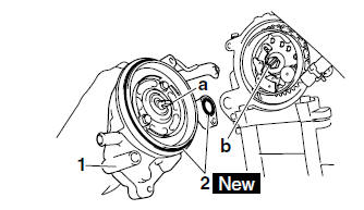 Yamaha YZF-R125 Service Manual: Installing the water pump