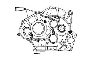 Yamaha YZF-R125 Service Manual: Assembling the crankcase