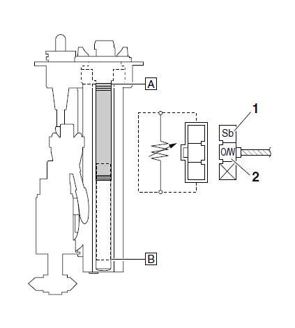 Yamaha YZF-R125 Service Manual: Checking the fuel sender