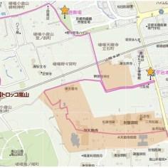 這是嵐山的步行地圖。