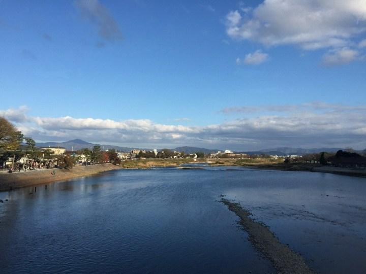 渡月橋上的風景
