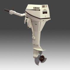 Yamaha White Outboard Motor