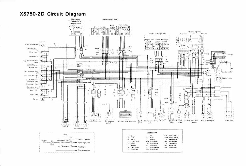medium resolution of the yamaha triples community workshop electrical xs1100 wiring diagram yamaha 250 wiring diagram