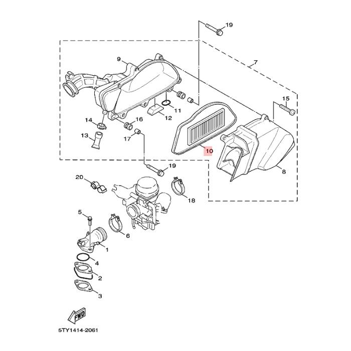 Въздушен филтър Yamaha 5TYE44511000