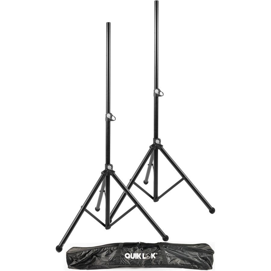 Quiklok S171PAK Pair Aluminium Speaker Stands with bag