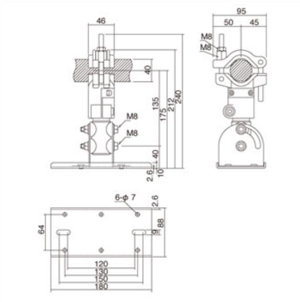 Yamaha BBS251 Baton Mount Bracket for Studio & PA Speakers