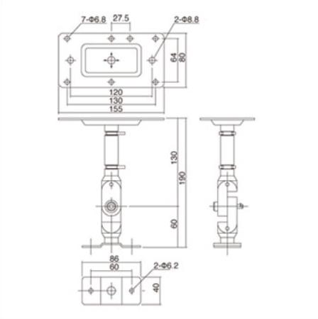 Yamaha BWS20-190 Wall Mount/Ceiling Mount Bracket for