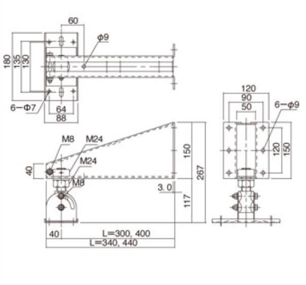 Yamaha BWS251-300 Wall Mount Bracket for Studio & PA