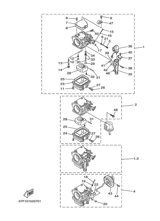 Yamaha spare parts / F100 ETL/X F100A (67F) / Europe