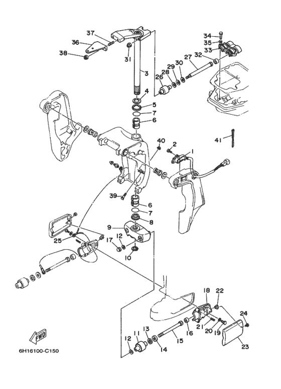 Yamaha Bracket 1 Reservedele / 90 ETOL/XL 90A (6H1