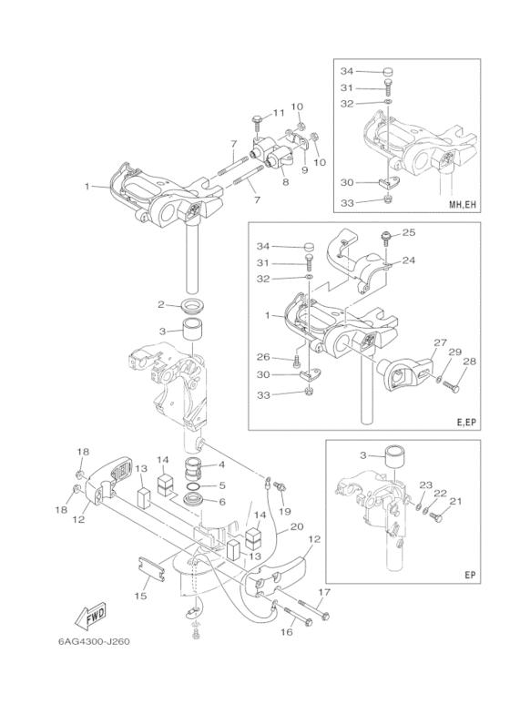 Yamaha Reservedele / F20 EPL F20B (6AH8) / Europe (210
