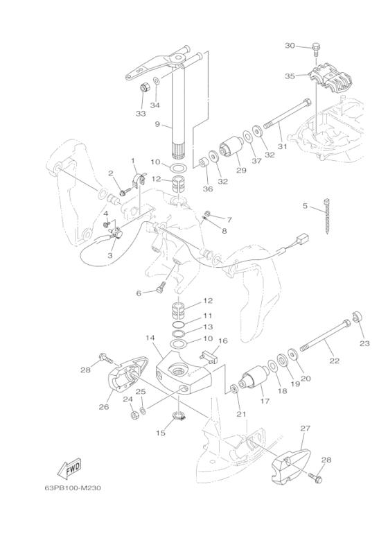 Yamaha Fuel Injection Pump 2 Reservedele / FL150 ETL/X