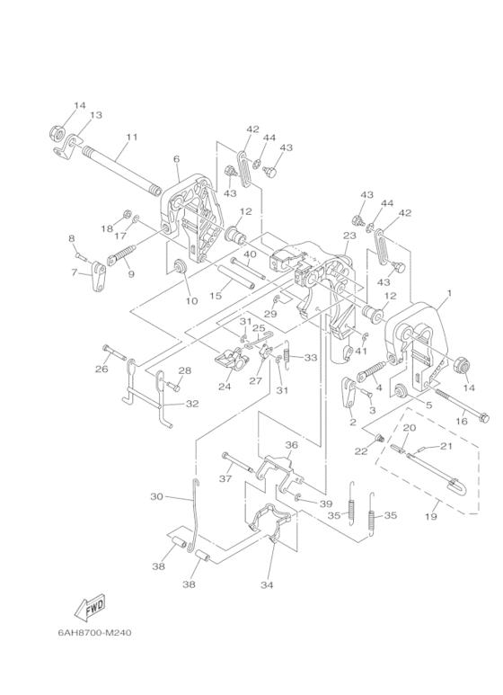Yamaha Reservedele / F20 MHL F20B (6AHA) / Europe (170