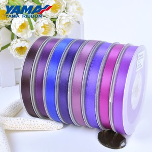 violet purple satin ribbon