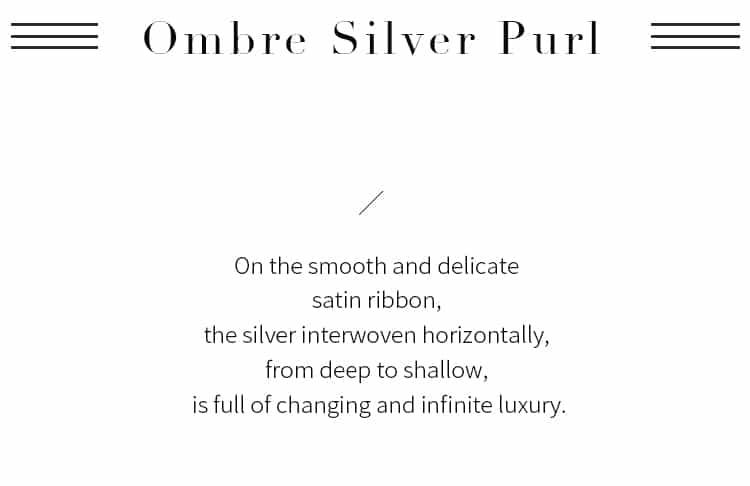 Ombre Silver Purl Ribbon