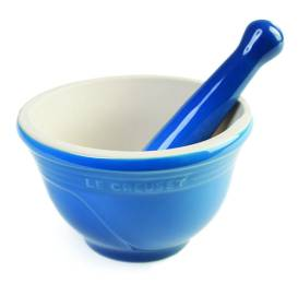 Le Creuset mortar and pestle, available at Penna & Co. $50