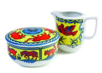 Boppla sugar bowl ($36) and creamer ($32), available at Muffet & Louisa.