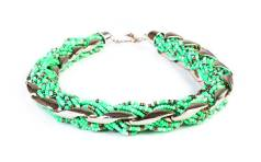 Braided turquoise necklace, available at Amelia Lee Boutique. $49
