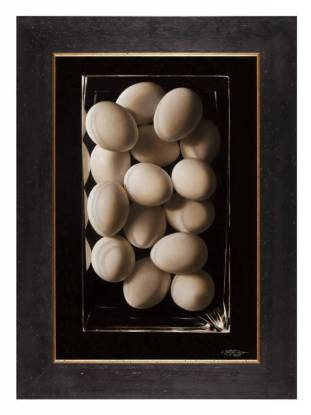 Best Work on Canvas or Board: Sponsored by Island Blue Art & Graphic Supply: 'Wall of Eggs' by Catherine Moffat