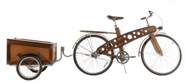 Best in Show: Sponsored by Re/Max Victoria: 'Wood Bike and Trailer' by Brian Poletz