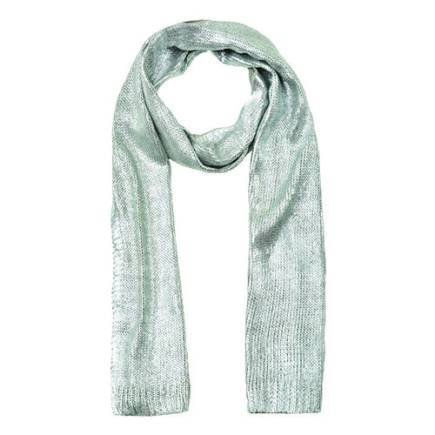 Silver scarf, available at Dynamite. $23