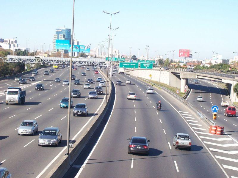 Uso de carriles en autopista