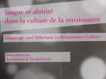 Language and Otherness in Renaissance Culture