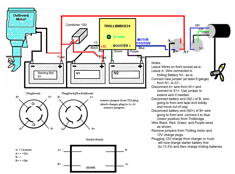 24 Volt Wiring Diagram For Trolling Motor: 24 volt wiring diagram for trolling motor at sanghur.org