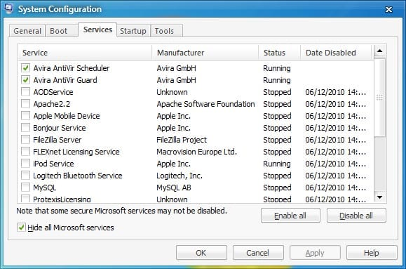 msconfig 2 Tips: Setting Windows 7 Anda Supaya Tidak Lemot tips