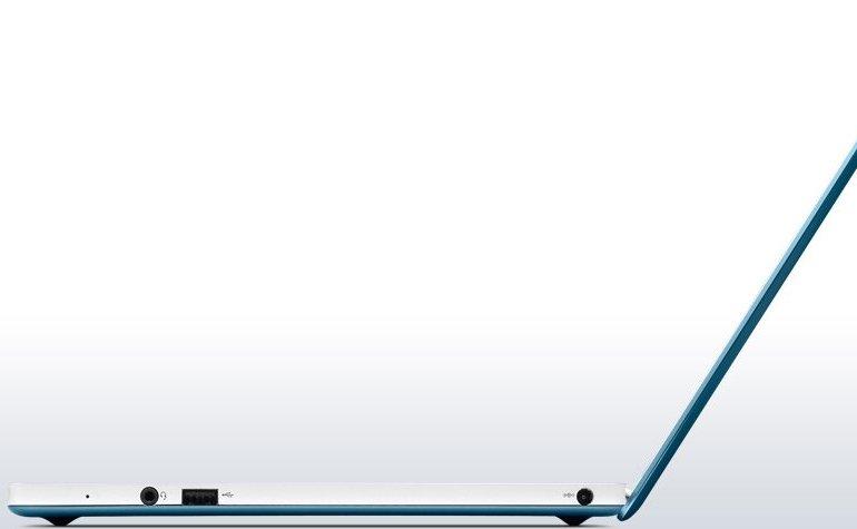 IdeaPad U310 Laptop PC Metallic Blue Side View 10L
