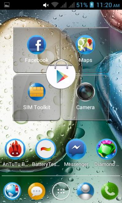screenshot home screen lenovo a390 1