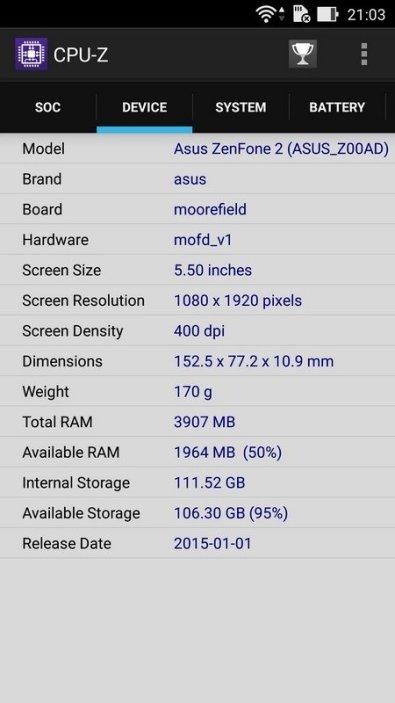 CPU Z Asus Zenfone 2 Deluxe SE (3)