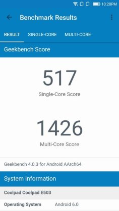 Coolpad Fancy 3 Geekbench 4 (1)