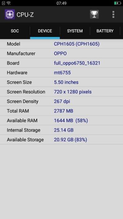 Oppo A39 CPU Z (2)