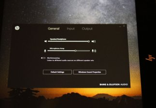 b&o audio control hp spectre x360 2017
