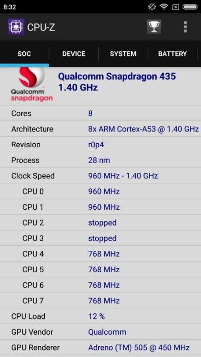 Xiaomi Redmi 4X CPU Z (2)
