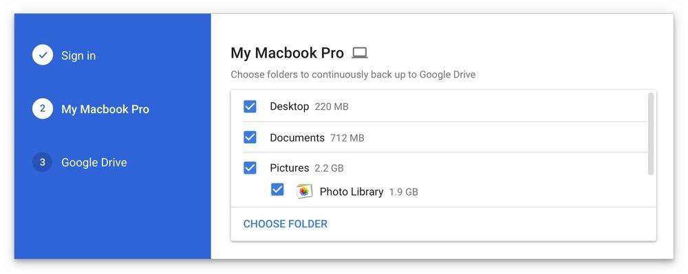 google backup photos and drive