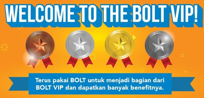 Bolt VIP: Program Loyalitas untuk Pelanggan Bolt Prabayar