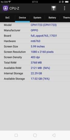 Oppo F5 CPU Z (3)