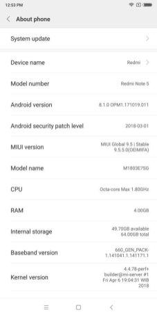 Redmi Note 5 MIUI 9.5 (1)
