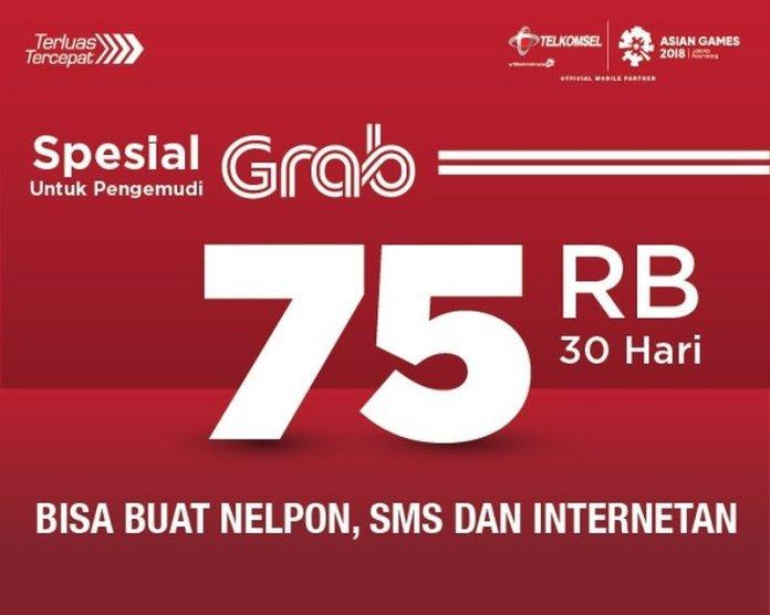 Grab dan Telkomsel Hadirkan Paket Kuota Internet Murah Untuk Mitra Pengemudi 1